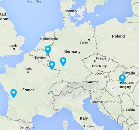 Map of EKK in Europe